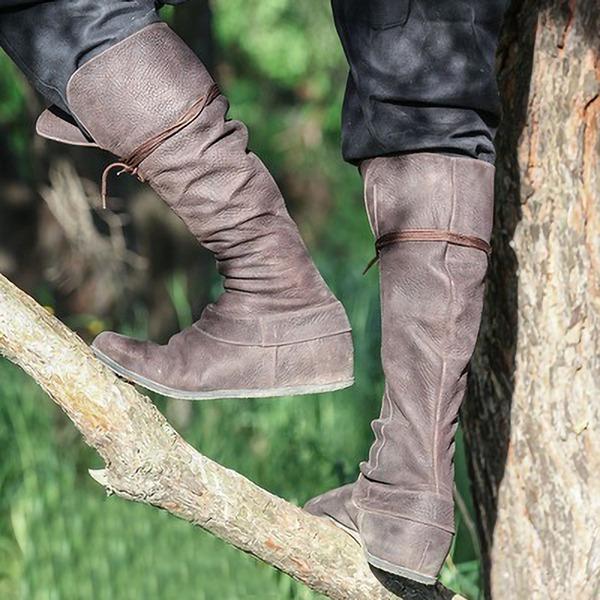 Kadın Suni deri Düz Topuk Daireler Bot Ile Bağcıklı ayakkabı