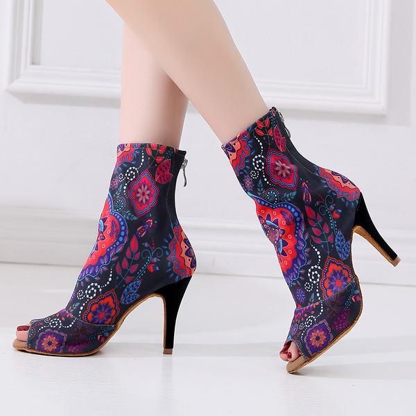 Women's Leatherette Dance Boots Dance Shoes