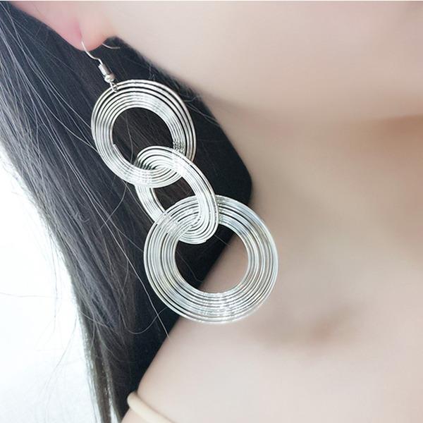Mode Legierung Frauen Art-Ohrringe (Set von 2)