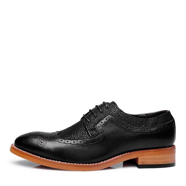 Hombres Cuero de microfibra Brogue Casual Zapatos Oxford de caballero
