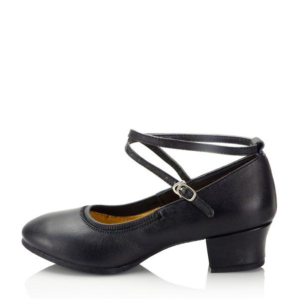 Mulheres Couro verdadeiro Treino Sapatos de dança