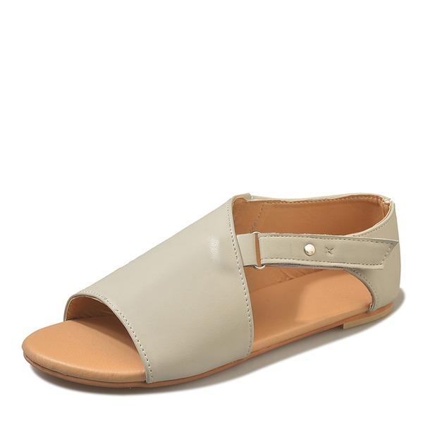 Vrouwen Kunstleer Flat Heel Sandalen schoenen