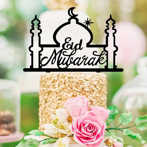 Eid al-Fitr Religious/Classic Acrylic Cake Topper (Sold in a single piece)