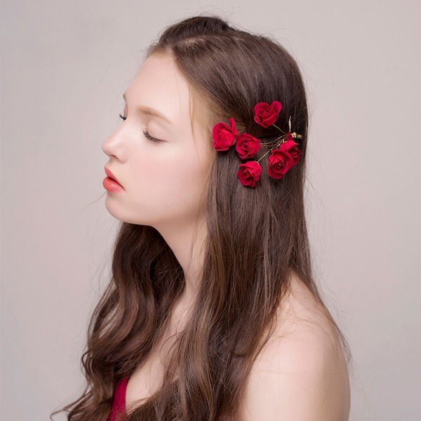 Damen Einzigartig Legierung/Seide Blumen Haarnadeln
