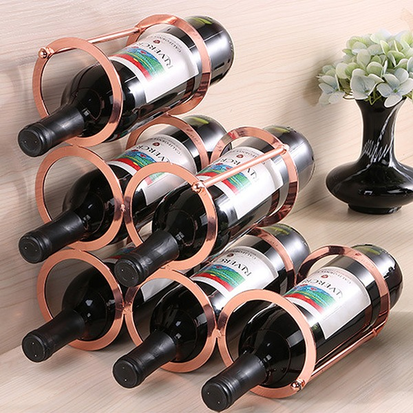 Wine Rack Iron Simple Beautiful Table Centerpieces