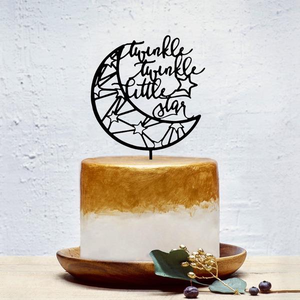 Klassische Art Acryl Torten-Dekoration