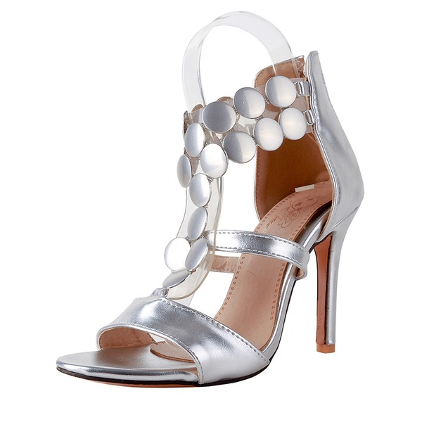 Vrouwen Patent Leather Stiletto Heel Sandalen Pumps Peep Toe met Rits schoenen