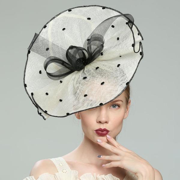 Glamourous/Elegantní/Jednoduchý/Eye-lov/Fantazie/Romantický/Umělecký Bílá látka podobná bavlně Fascinators