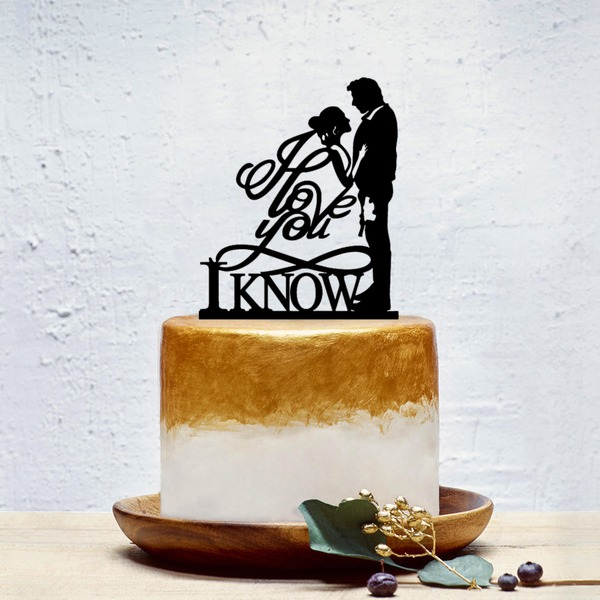 Classic/Love Is Sweet Acrylic Cake Topper