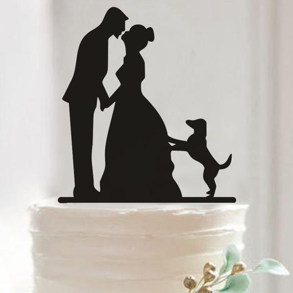 Pareja Clásica Acrílico Decoración de tortas (Juego de 2)