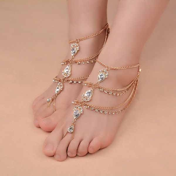 Unique Alloy With Rhinestone Ladies' Body Jewelry (Sold in a single piece)
