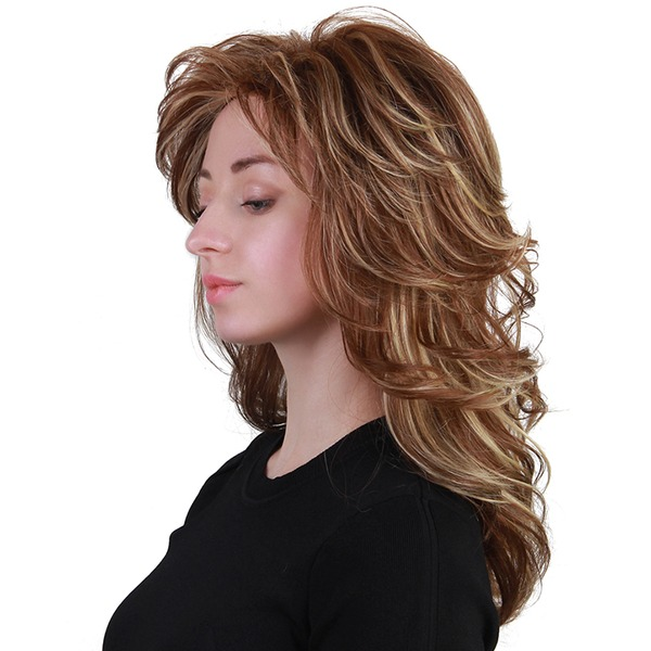 Tiefe Welle Menschliches Haar Blend Echthaarperücken 150g