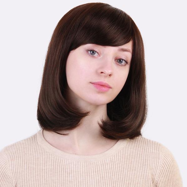 Kinky Straight Mezcla de cabello humano Pelucas del pelo humano 130g