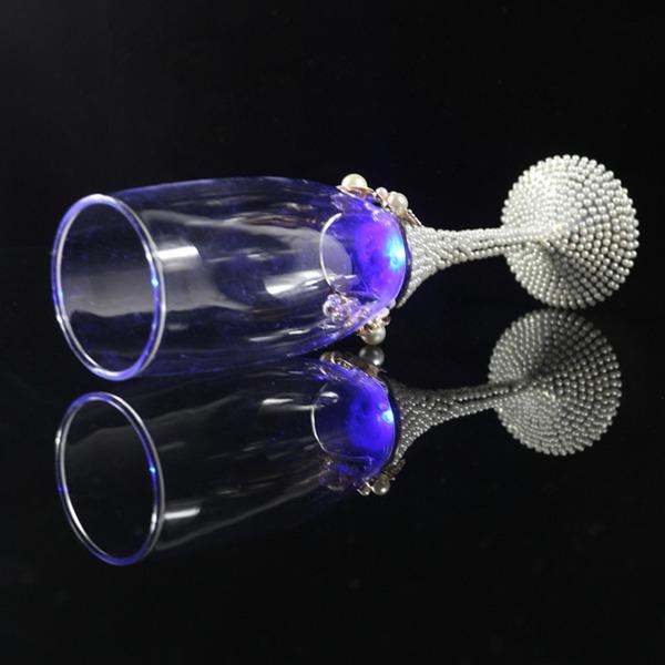 Elegant/Pärla Vit Rostning Flöjter med Fauxen Pärla (Sats Om 2)