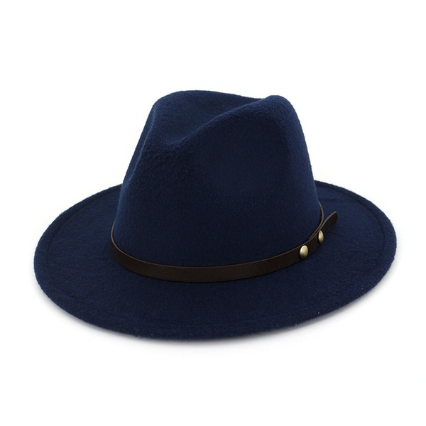 Könsneutrala Iögonfallande Filt Fedora Hat