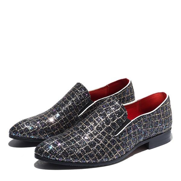 Mannen Sprankelende Glitter Casual Loafers voor heren