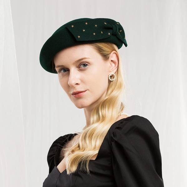 Damer' Mode/Elegant/Enkel Ull Basker Hat