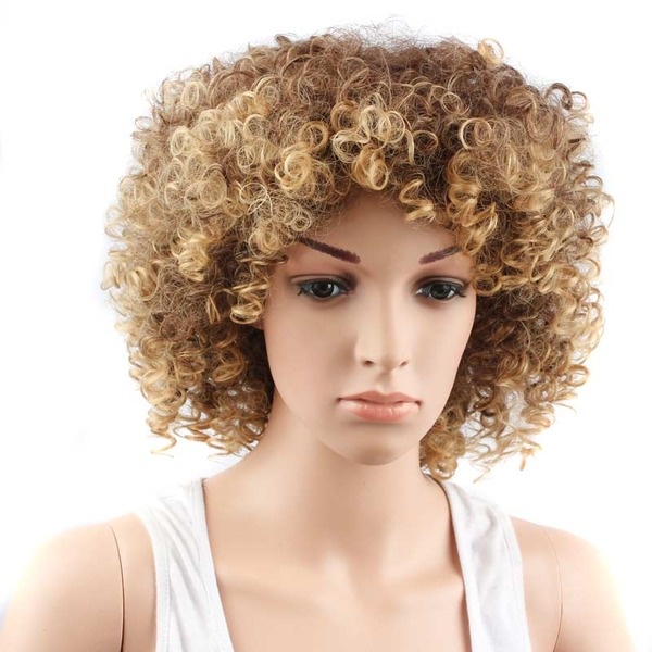 Curly Mid-Length Synthetic Wigs (Sold in a single piece)