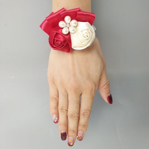Satén Ramillete de muñeca (vendido en una sola pieza) -