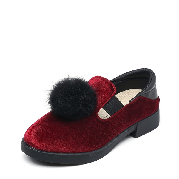 Girl's Round Toe Loafers & Slip-Ons Suede Flat Heel Flats
