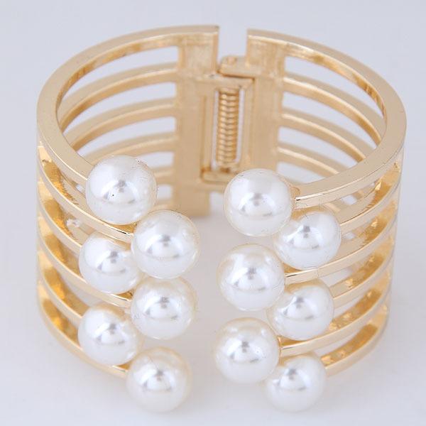 Móda Slitina Faux Pearl Ladies ' Módní náramky