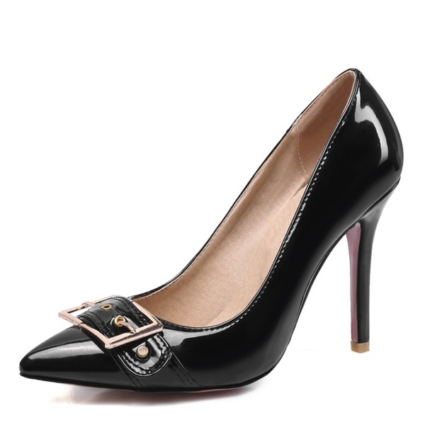 Frauen Kunstleder Stöckel Absatz Absatzschuhe Schuhe