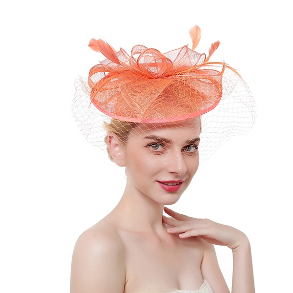 Ladies' Glamourous/Classic/Elegant Cambric/Feather With Feather Fascinators