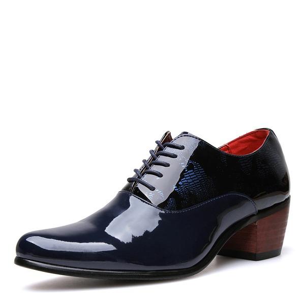 Hommes Cuir Verni Dentelle Décontractée Chaussures habillées Chaussures Oxford pour hommes