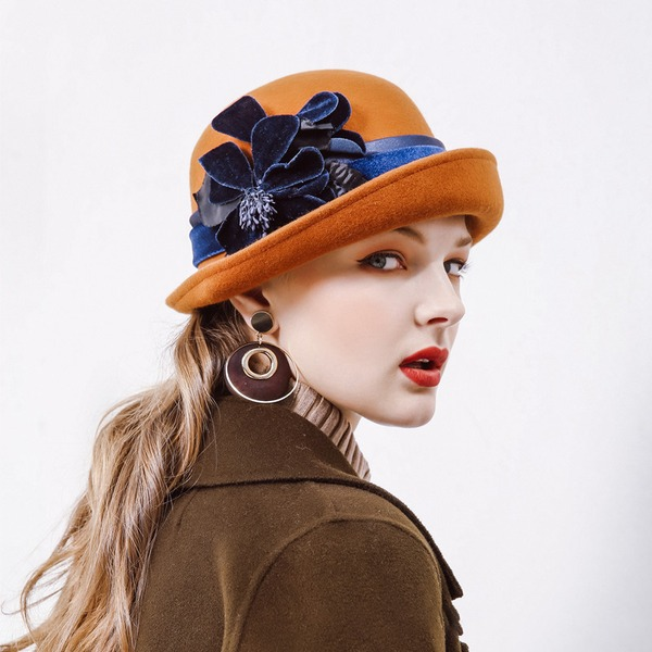 Ladies ' Móda/Pěkný/Kouzlo Vlna Floppy klobouk