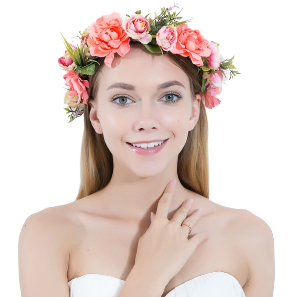 Damer Vakkert Silke blomst/Satin Pannebånd