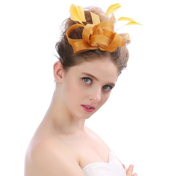 Dames Beau/Charmant/Mode/Spécial/Glamour/Élégante Batiste avec Feather Chapeaux de type fascinator