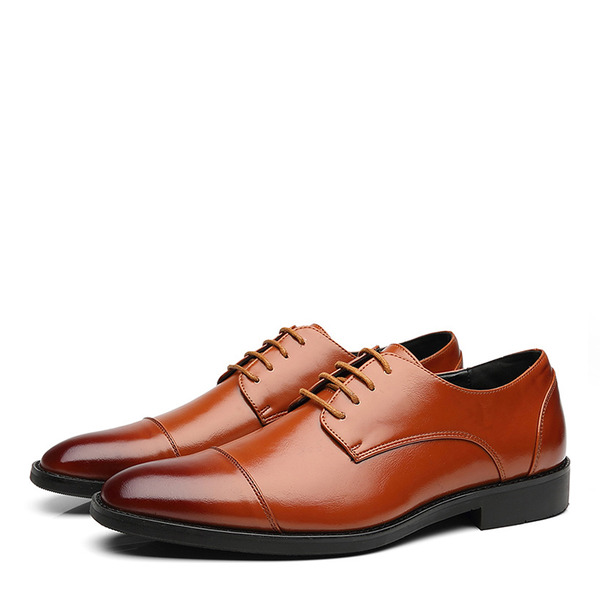 Мужская кожа Cap Toes шнуровка Платья Men's Oxfords