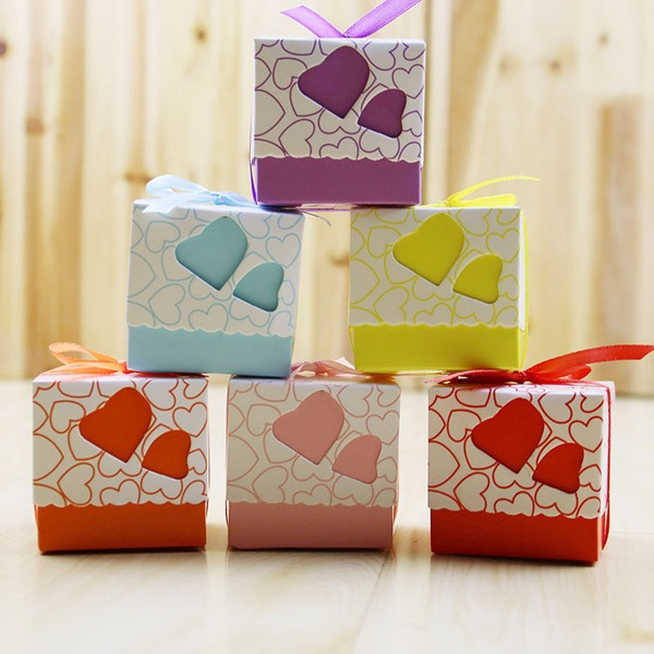Cubic paper Favor Boxes & Containers (Set of 100)