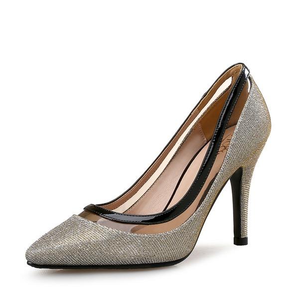Femmes Pailletes scintillantes Talon stiletto Escarpins Bout fermé avec Pailletes scintillantes Semelle chaussures