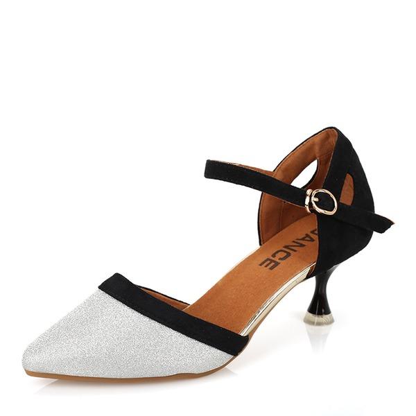 Dla kobiet Skóra ekologiczna Sandały Latynoamerykańskie buty do butów Buty do Tańca