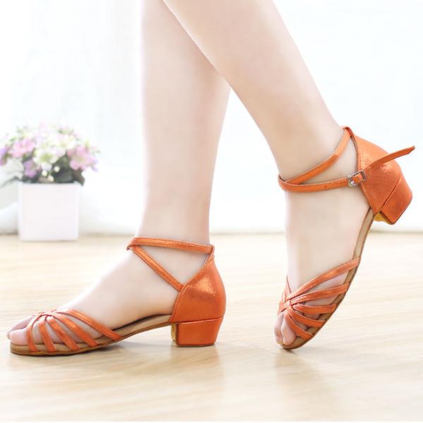 Женщины кожа Латино с Ремешок на щиколотке Обувь для танцев