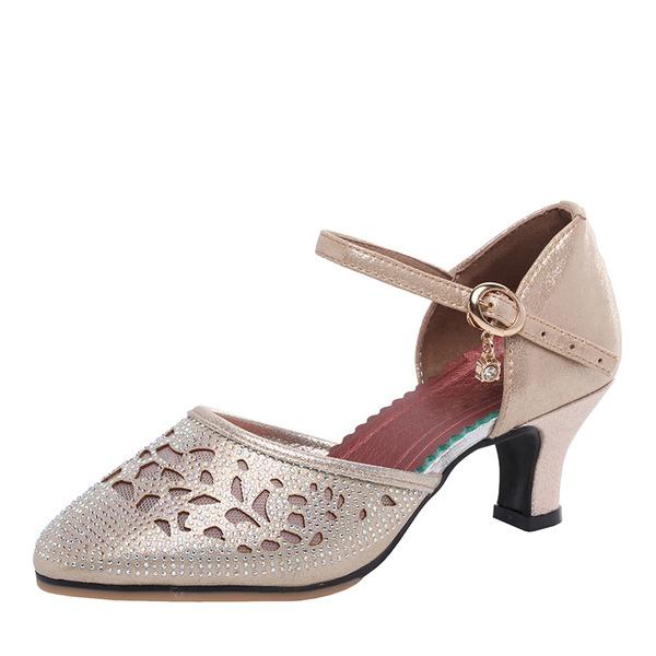 Kvinnor Microfiber läder Sandaler Latin Dansskor