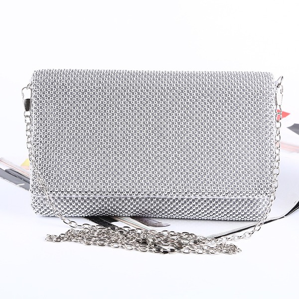 Elegant Satin/Aluminum Clutches