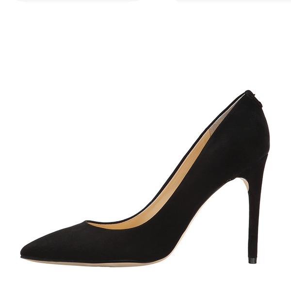 Frauen Veloursleder Stöckel Absatz Absatzschuhe Geschlossene Zehe mit Andere Schuhe
