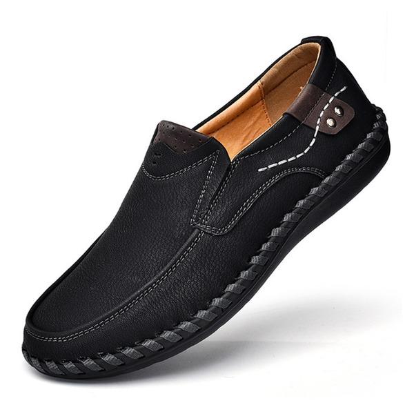 Miesten Keinonahasta Vene kengät Rento Miesten loaferit