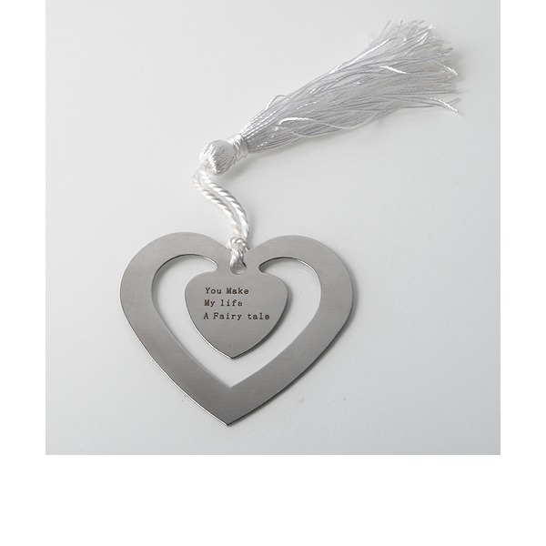 Personalized Heart Shaped Zinc Alloy Bookmarks
