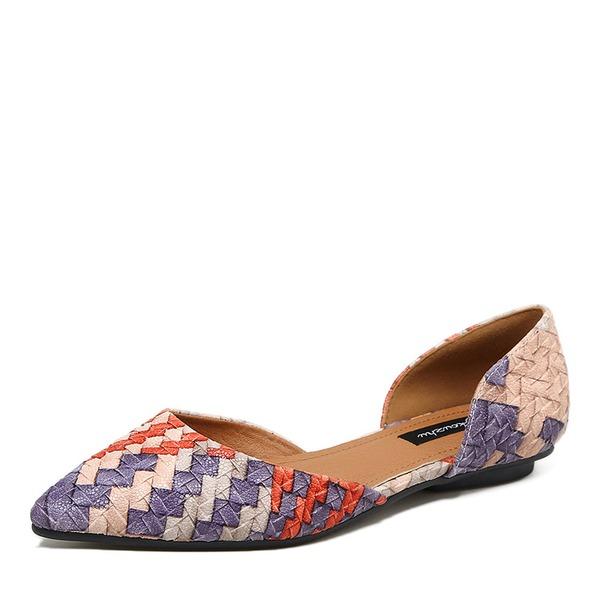 Naisten Keinonahasta Matalakorkoiset Suljettu toe kengät