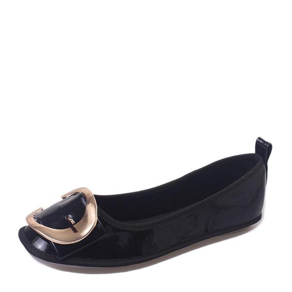 Vrouwen PU Flat Heel Flats Closed Toe met Gesp schoenen