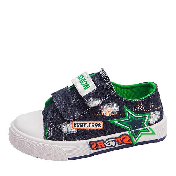 Unisex Round Toe Geschlossene Zehe Leinwand Flache Ferse Flache Schuhe Sneakers & Sport mit Klettverschluss