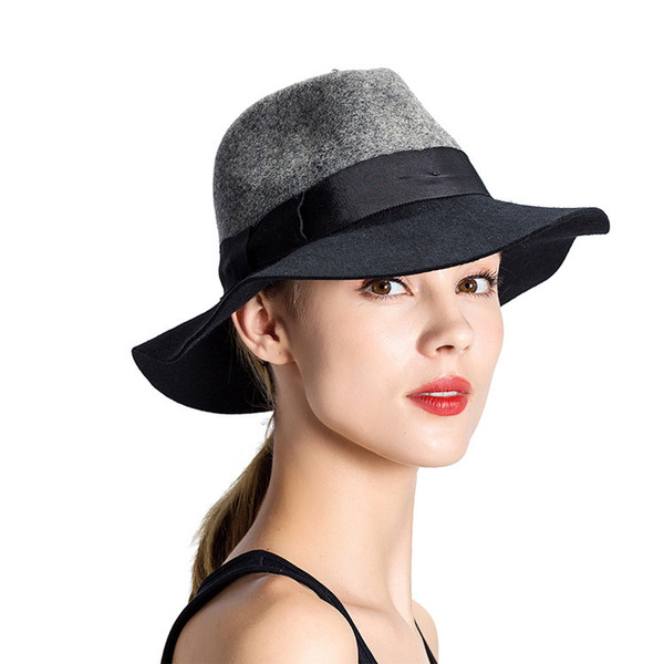 Ladies ' Elegant/Enkle Uld Bowler / Cloche Hat
