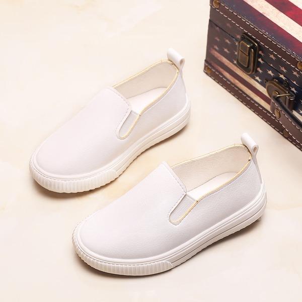 A menina de Fechados Loafers & Slip-Ons imitação de couro Heel plana Sem salto