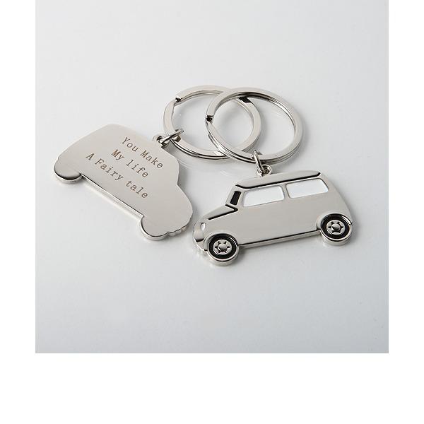Personalizado Carro Design Liga de zinco Chaveiros (Conjunto de 4)