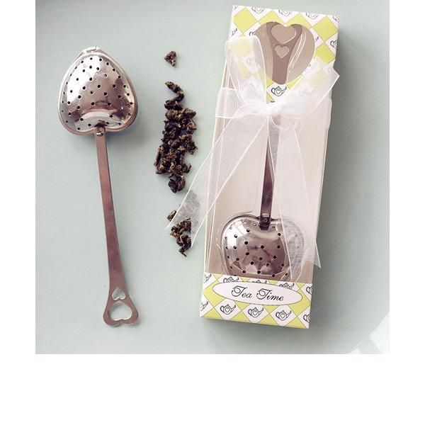 """""""Čas na čaj"""" Ve tvaru srdce Kov Dárky na čajové dýchánky S Saténové stuhy"""