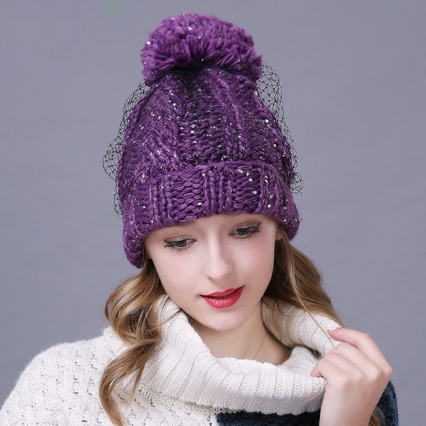 Ladies ' Glamourous/Eye-lov/Vinobraní Polyester Floppy klobouk