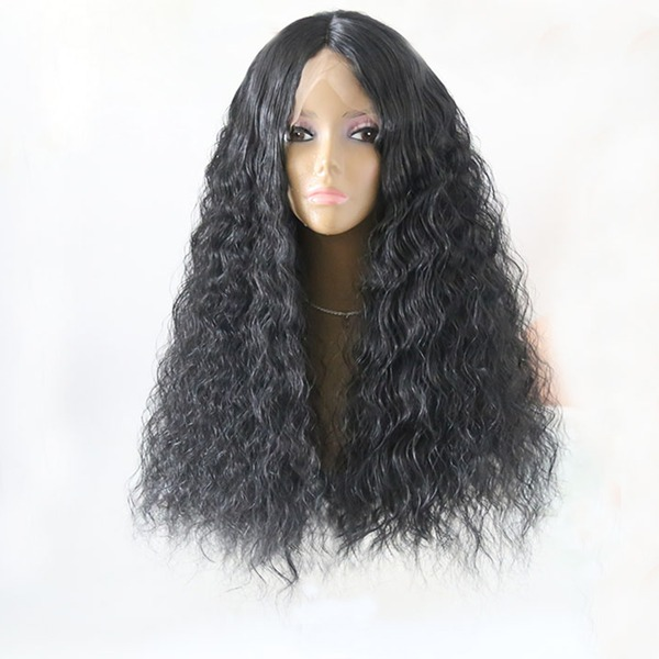 Curly Syntetisk Lace Front Parykar